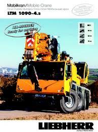 Ltm 1090 4 2 Load Chart Liebherr Ltm 1090 4 2 Specifications Cranemarket