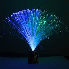 romantic fibre optic led night light color change desk table lamp relaxing lighting kids family holiday