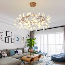 indoor accent lighting rose gold branch led chandelier metal ring heracleum ii led pendant light with