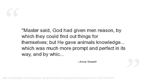 Anna Sewell Black Beauty Quotes
