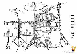 Coloring Page : Drum Coloring Pages 49 Kit Musical Instrument At ...