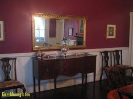 paint colors for dining rooms beautiful painting a room with a chair rail used a plum colored paint for