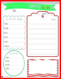 Christmas Card List Template Wish List Template Shopping Printable Free Templates Card
