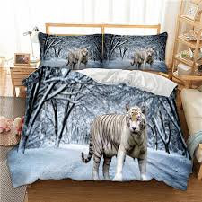 wongs bedding 3d tiger snow white duvet cover bedding set quilt cover bed set twin queen king size home textile comforters bedding sets comforter