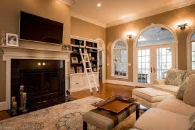 Hardwood Floors Living Room Magnificent Traditional Living Room With Crown Molding Hardwood Floors Paisley