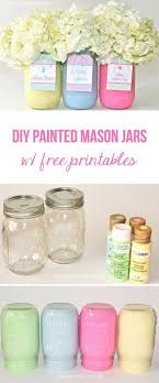 diy painted mason jars with flowers