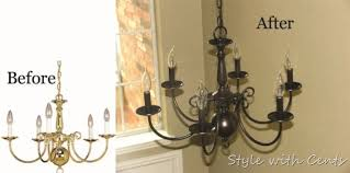 repurposing outdated brass and glass foyer lighting before after refurbishing an old chandelier diy home d