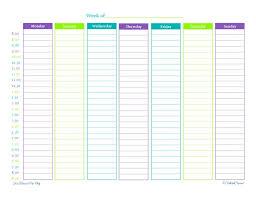 Vertical Weekly Calendar Printable Weekly Schedule 10 Templates Inhoxa Templates