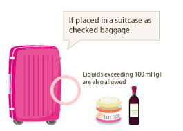 if placed in a suitcase as checked bage