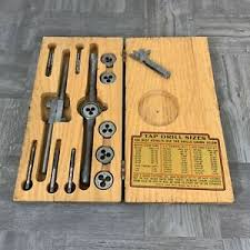 Tap And Die Set Chart Details About Vintage Henry L Hanson Ace Tap Die Set In Wooden Box Mss Thread S 21 W Chart