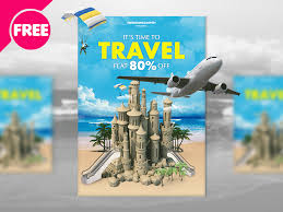 Travel Flyer Template By Free Download Psd On Dribbble
