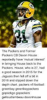 2016 Jaguars Depth Chart The Packers And Former Packers Cb Davon House Reportedly