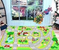 play rug with roads kids street map cool mat city children learning carpet rugs boy girl play rug with roads kids