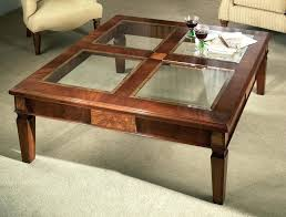 round wood coffee table glass coffee tables and black table end with regard to square top