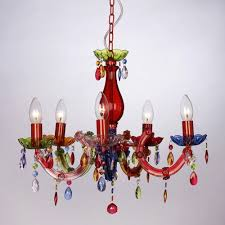 multi colored gypsy chandeliers regarding widely used vintage style multi coloured marie therese 5 way ceiling