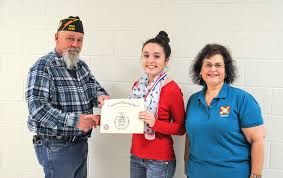 hurst jr high student wins vfw voice of democracy scholarship   voice of democracy scholarship essay contest she was awarded a medal and a certificate by vfw representatives chris townse and patty boyd
