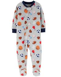 1 Piece Sports Fleece Pjs Carters Com
