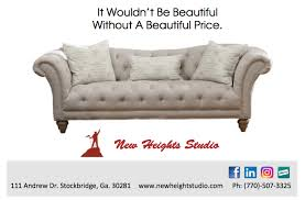new heights furniture. image may contain living room text and indoor new heights furniture l
