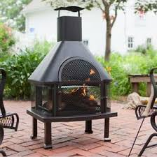 wood burning patio fire pits. Image Is Loading Chiminea-Grill-Grate-Outdoor-Fireplace-Fire-Pit-Screen- Wood Burning Patio Fire Pits T
