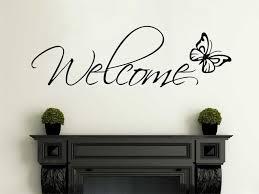 welcome wall art with erfly wall art sticker decal vinyl stickertransfer