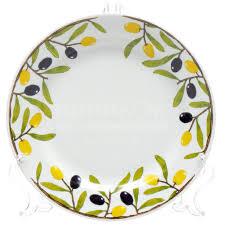 <b>Тарелка</b> десертная керамическая, 175 мм, Гладкий край <b>Оливки</b> ...