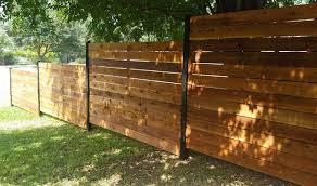 horizontal fence styles. Horizontal Style Fence With Black Posts Stained Styles