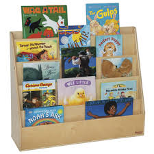 Wooden Book Display Stand