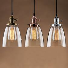 pendant kitchen lighting. adjustable vintage industrial pendant lamp cafe glass brass chrome shade light kitchen lighting
