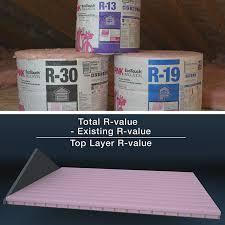 r value label on batt insulation and diagram
