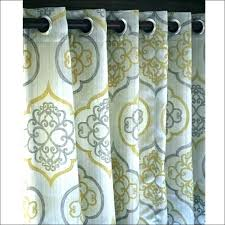 yellow and gray curtains patterned grey elegant interiors wonderful white walls green lime shower curtain won