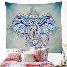 blue mandala elephant wall hanging