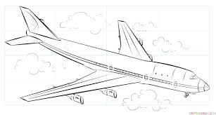 Airplane Drawing How To Draw An Airplane Step By Step Drawing Tutorials