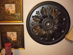 on diy ceiling medallion wall art with remodelaholic ceiling medallion as art
