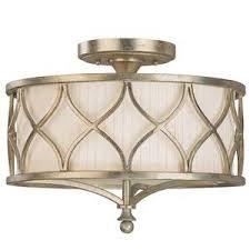 semi flush mount ceiling lights. C4003WG487 Fifth Avenue Semi Flush Mount Ceiling Light - Winter Gold Lights O