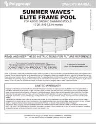 summer waves elite frame pool manualzz