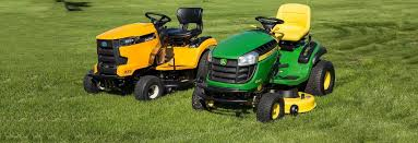 john deere lawn mower. cub cadet xt1 lt42 and john deere d130 lawn tractors mower