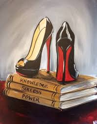 powerful in your louboutins byob painting