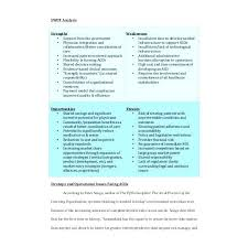 Sample Needs Analysis Best Marketing Swot Analysis Template Sample Needs Healthcare Free Market