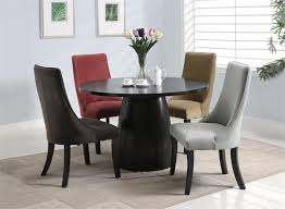 dining tables round dining table set 5 piece round dining set black circle wooden table