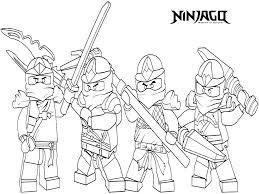 Coloring Pages Ninjago Free Ninja Coloring Pages Book Lego Ninjago