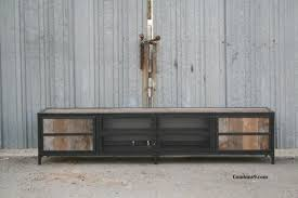 vintage industrial media console credenza rustic reclaimed wood 4bcadcd6