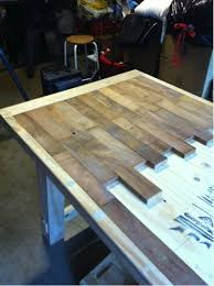 rustic diy wood plank table
