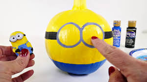 Painted Minion Pumpkins How To Make Minion Halloween Painted Pumpkins From Toys To Arts