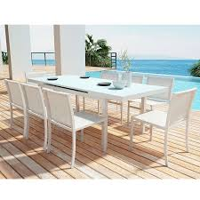 maribella white powder coated aluminum modern dining set modern outdoor dining furniture54 furniture
