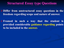 students assessment essay type questions dr g u kavathia 13 structured