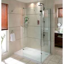 Walk In Shower Enclosure Aqata Spectra Walk In Shower Enclosure With Hinged Panel Sp446c