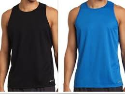 Details About Asics Core Mens Singlet Tank Top Shirt Mr520c Blue Or Black Size Large