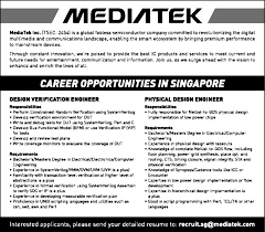 Job Physical Design Engineer Singapore Engineering Civil And