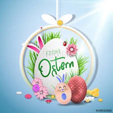 Easter Greeting Card Template Awesome Bunte Ostereier Frohe Ostern Happy Easter Image Vector Modern