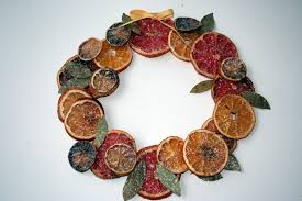 fruit christmas decorations. Plain Fruit Dried Fruit Wreath Photo On Fruit Christmas Decorations
